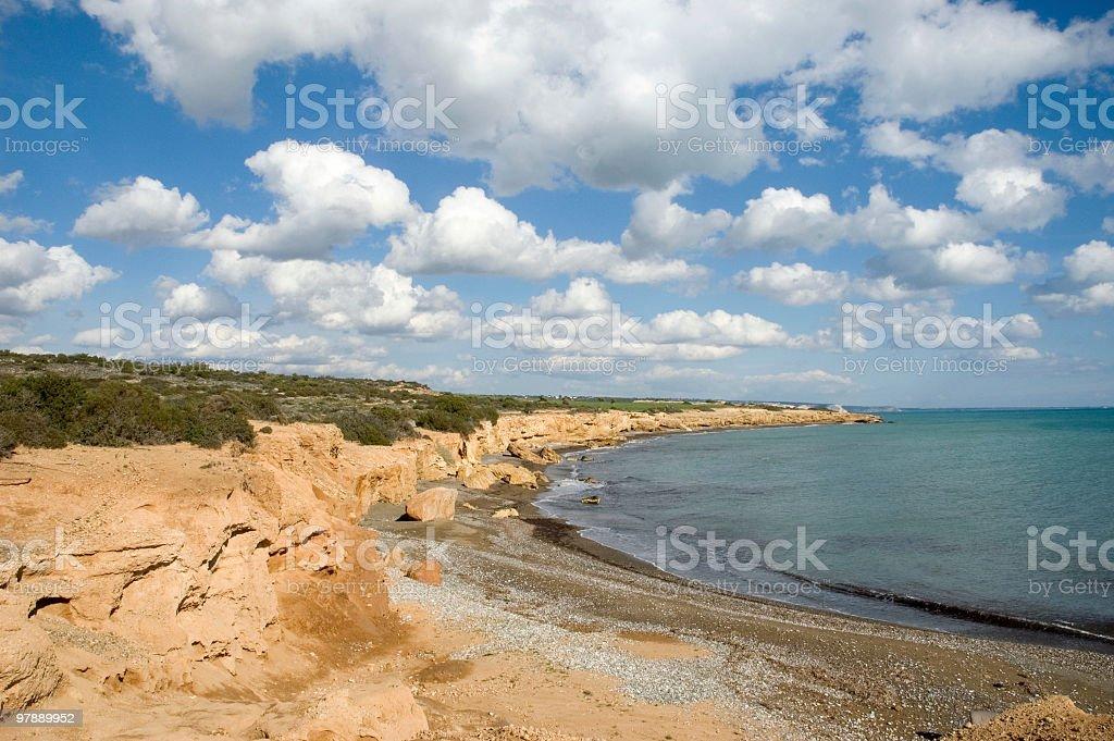 Avdimou Coastline royalty-free stock photo