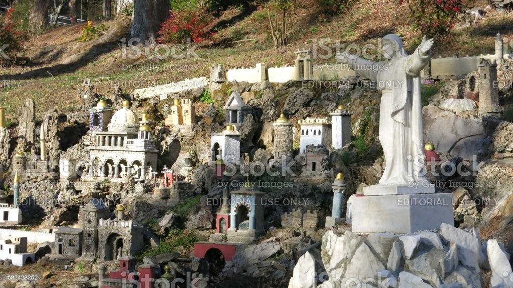 Ave Maria Grotto by Brother Joseph Zoettl, Cullman, Alabama royalty-free stock photo
