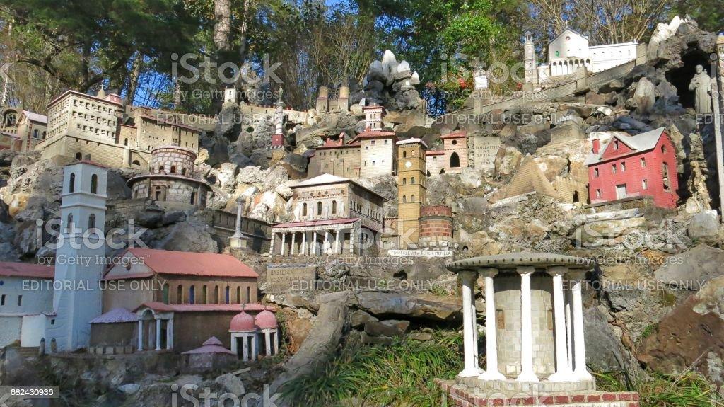 Ave Maria Grotto by Brother Joseph Zoettl, Cullman, Alabama royalty-free stock photo
