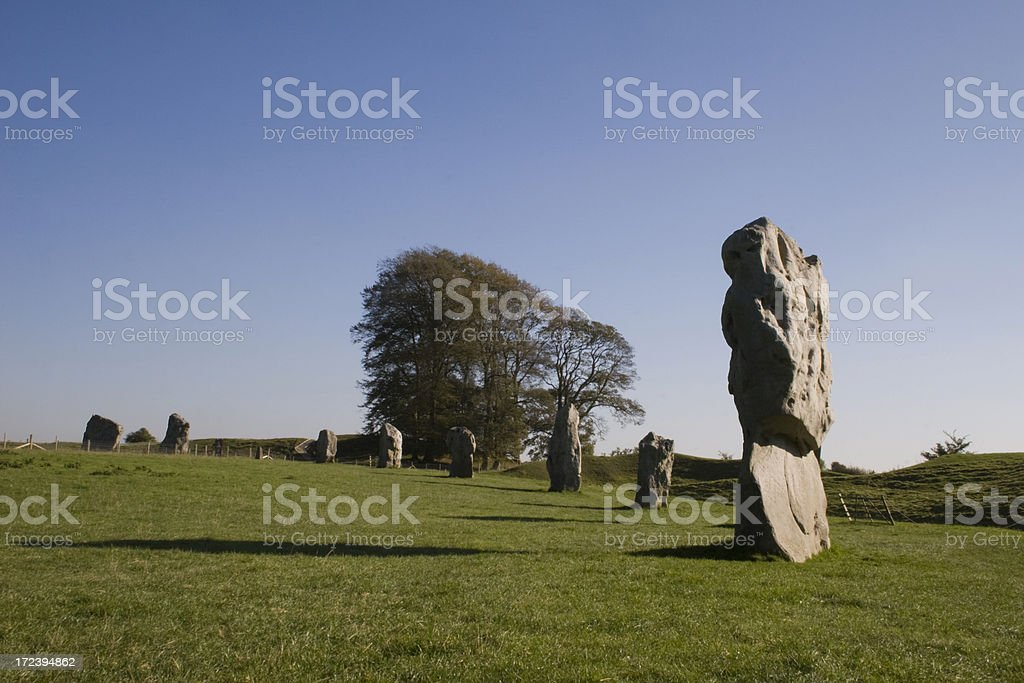 Avebury Stone Circle royalty-free stock photo