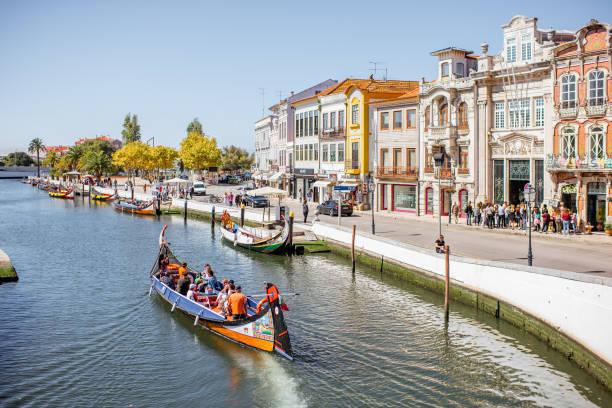 aveiro city in portugal - aveiro imagens e fotografias de stock
