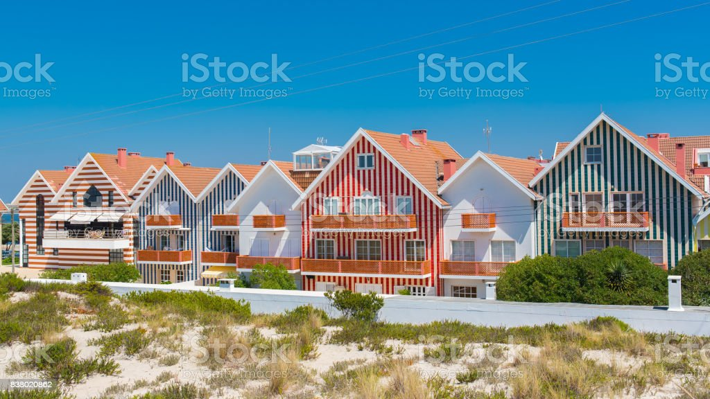 Aveiro in Portugal, Costa Nova stock photo