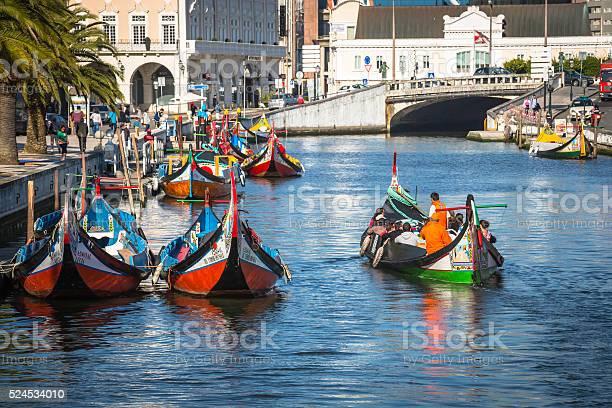 Aveiro, Portugal - 22 May,2015: Traditional boats in Aveiro