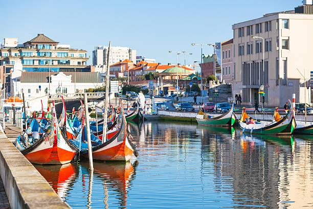 aveiro, em portugal, vista - aveiro imagens e fotografias de stock