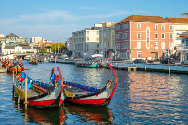aveiro, venice of portugal - aveiro imagens e fotografias de stock