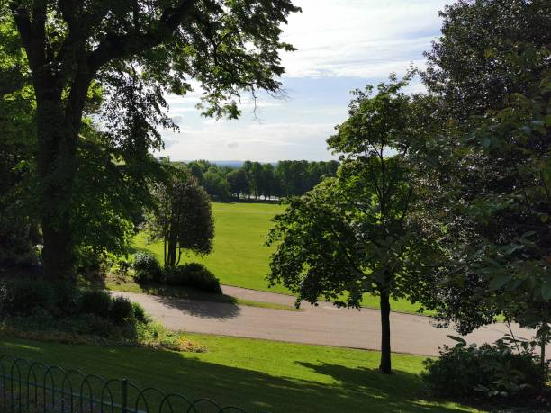 Avenham and Miller Park, Preston Beautiful summer's morning miller park stock pictures, royalty-free photos & images