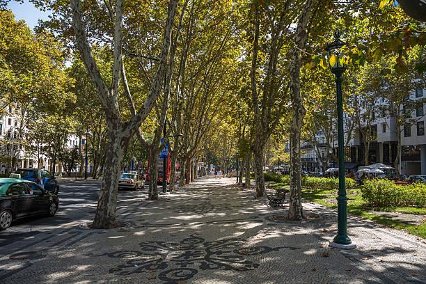 Avenida da Liberdade, Lisbon, Portugal stock photo