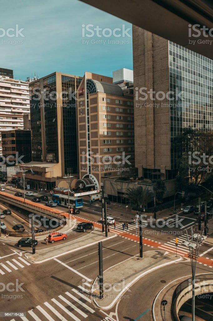 avenida paulista royalty-free stock photo