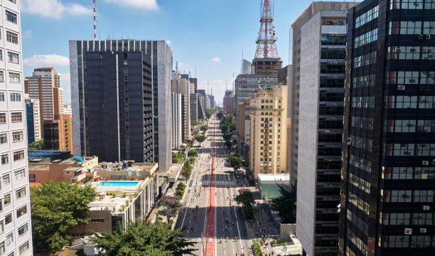 avenida paulista (paulista avenue), sao paulo city, brazil - sao paulo - fotografias e filmes do acervo