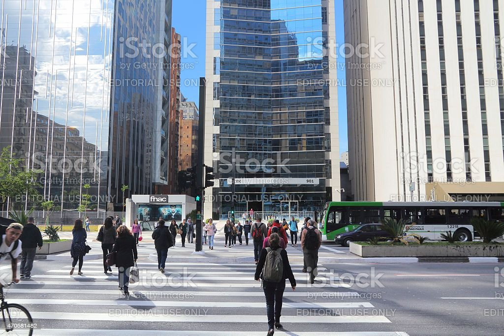 Avenida Paulista, Sao Paulo stock photo
