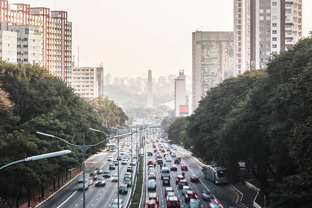 Avenue 23 de Maio in Sao Paulo, Brazil stock photo