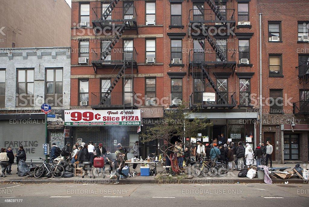 Avenue C after Hurricane Sandy stock photo