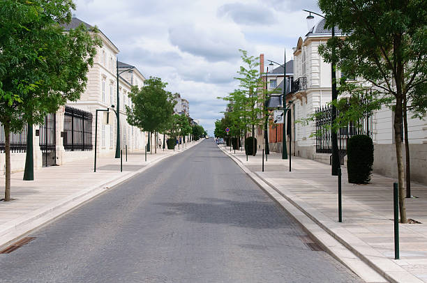 Avenue de Champagne Looking down the Avenue de Champagne in Epernay, France epernay stock pictures, royalty-free photos & images