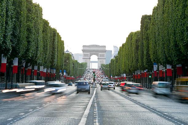 Avenue des Champs-Élysées et de l'Arc de Triomphe, à Paris, France - Photo