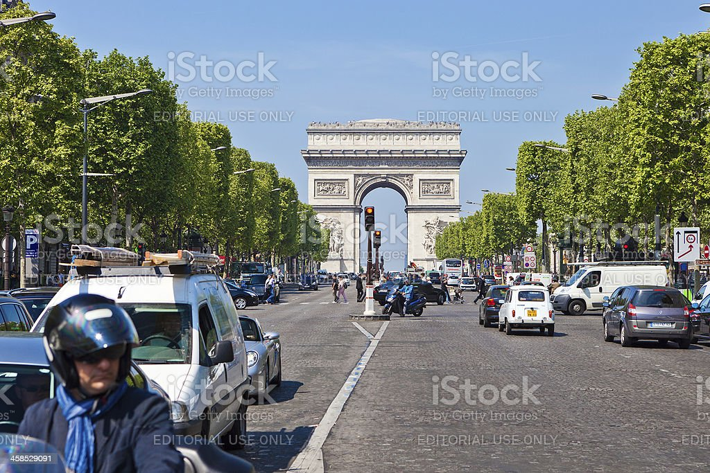 Avenue des Champs-Elysees royalty-free stock photo