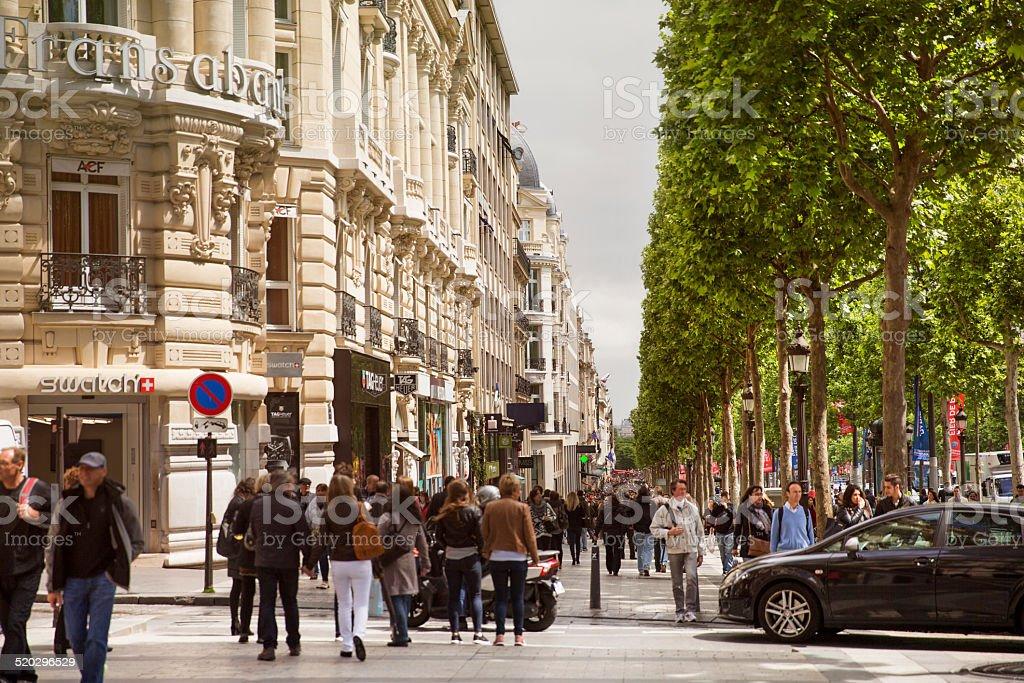 Avenue des Champs-Elysees, stock photo
