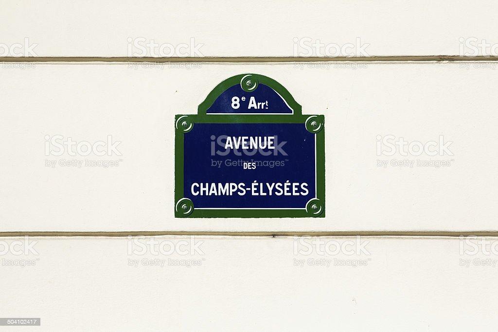 Avenue des champs-Élysées-street - – Foto