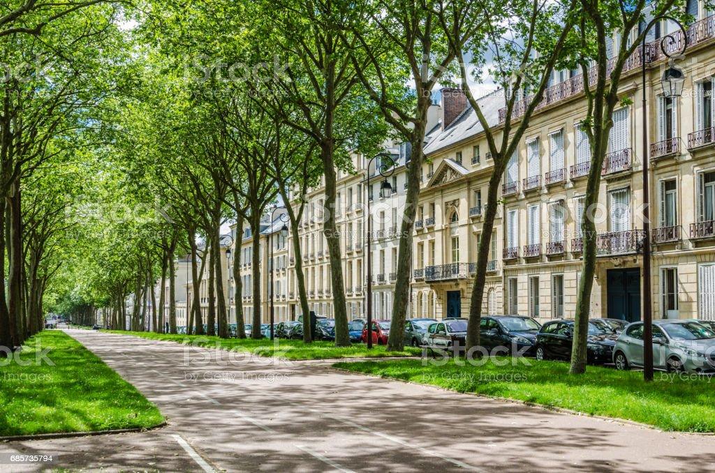 在法國凡爾賽大道 免版稅 stock photo