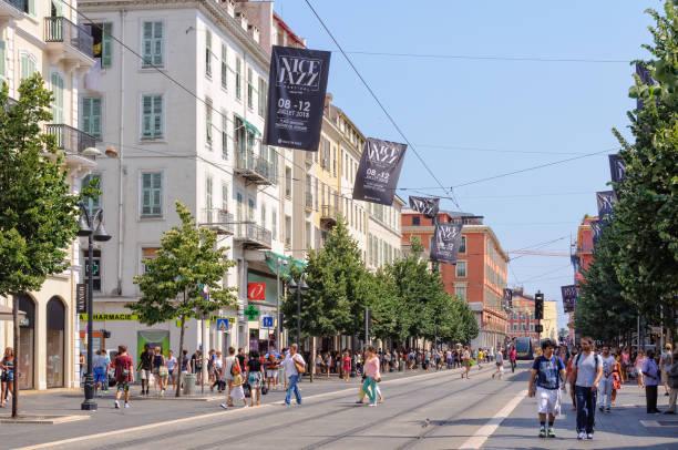 Avenue Jean Medecin - Nice stock photo