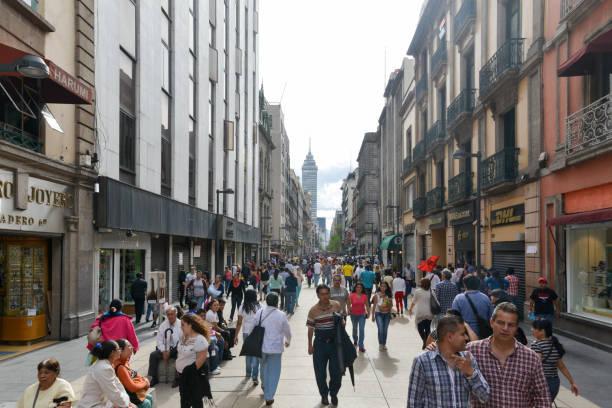 Avenue Madero in Mexico City stock photo