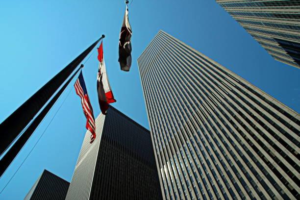 1211 Avenue of Americas - Bottom View stock photo