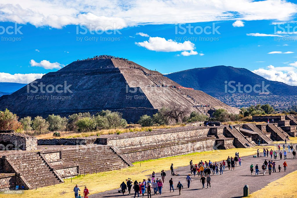 Avenue of Dead, Temple of Sun Teotihuacan Mexico stock photo