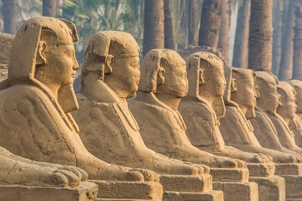 Avenue of Sphinxes (Luxor, Egypt) stock photo