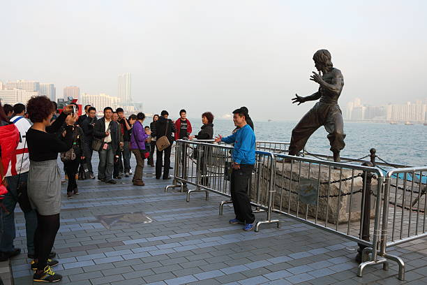 Avenida das estrelas em Hong Kong - foto de acervo