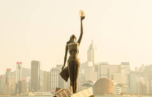 Avenue of Stars in Hongkong stock photo