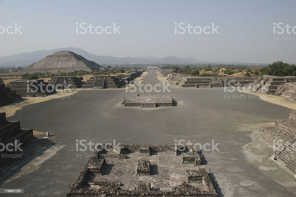 Avenue  of the dead royalty-free stock photo