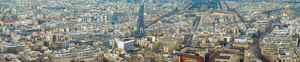 Avenues and rooftops, Paris stock photo