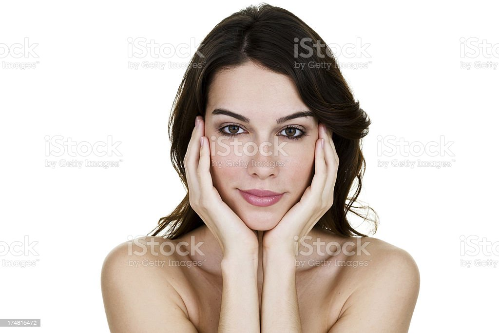 Average woman royalty-free stock photo
