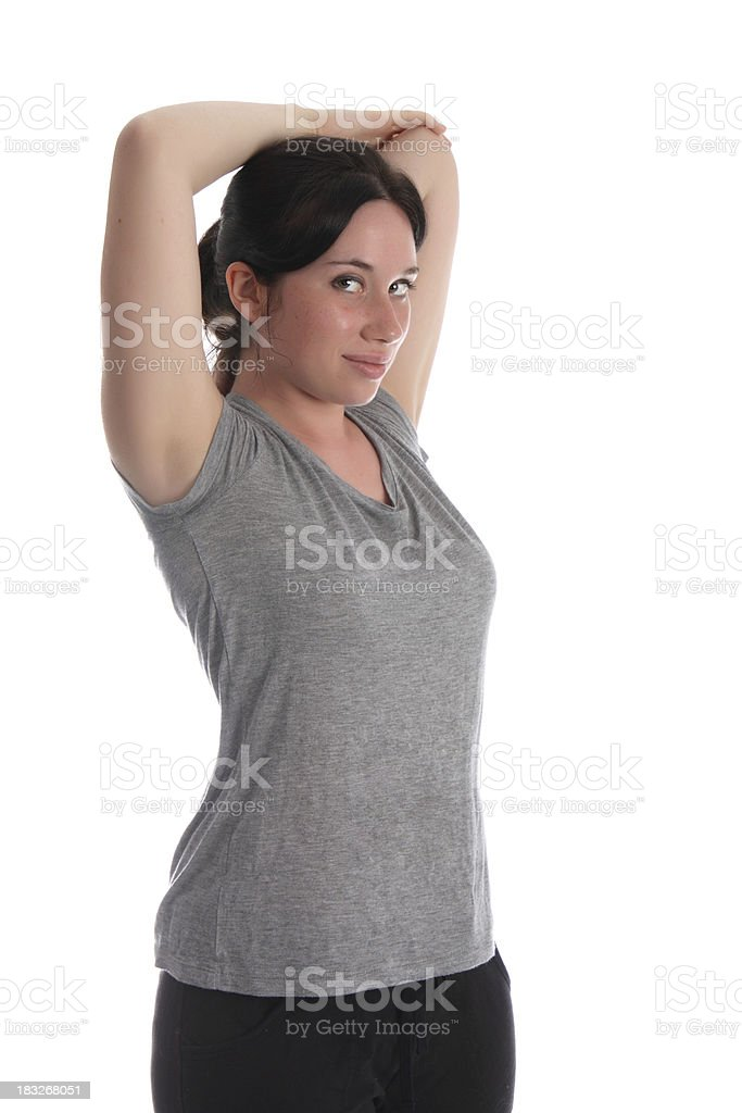 Average Women Stretching royalty-free stock photo