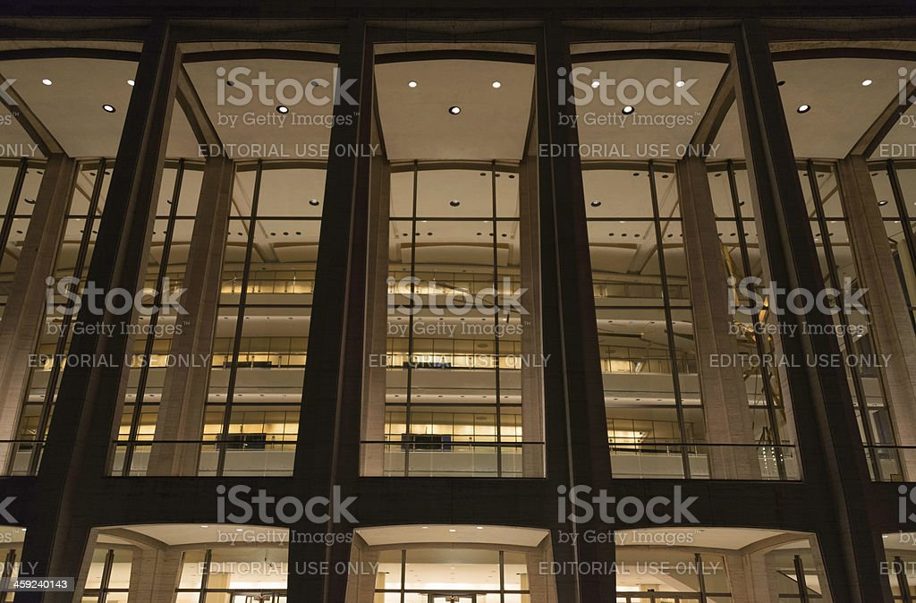 Avery Fisher Hall at the Lincoln Center stock photo