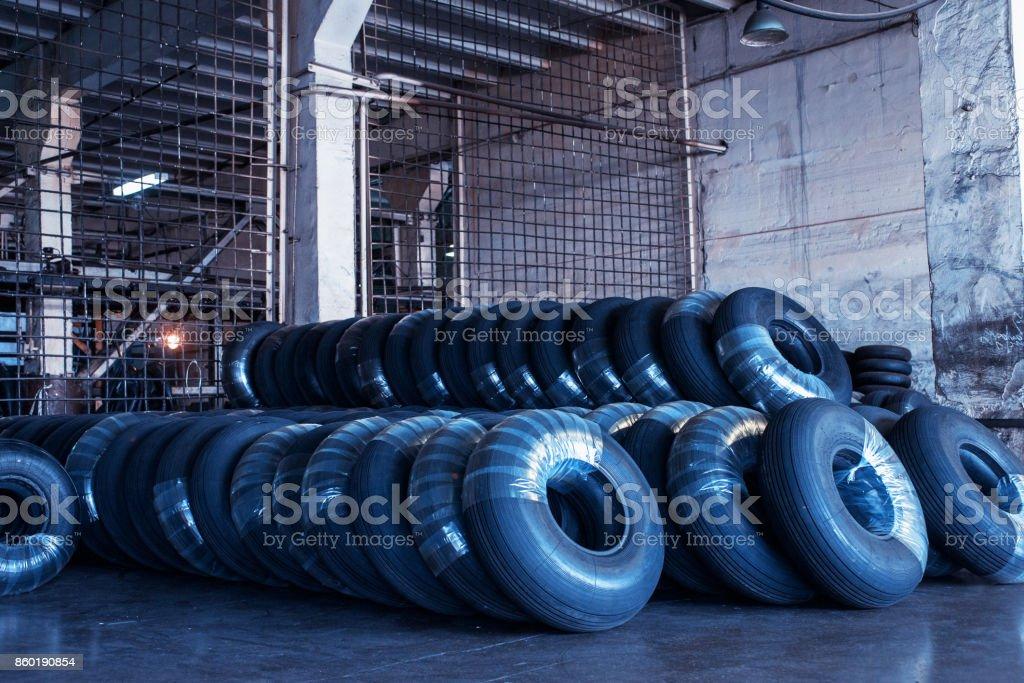 Avia tires production stock photo