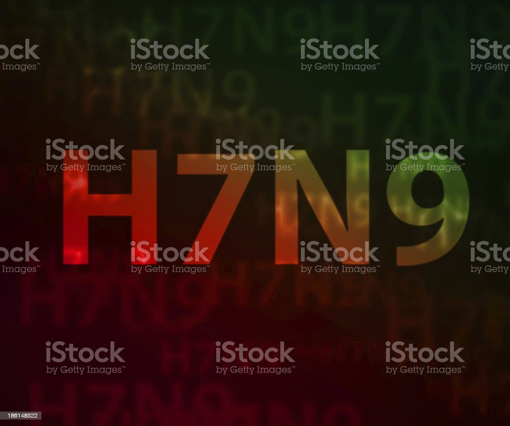 H7N9 avian flu bokeh background stock photo