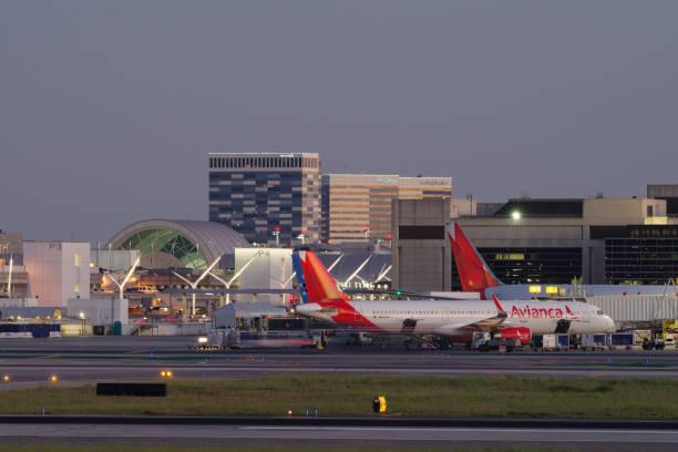 Avianca Airbus na empresa LAX - foto de acervo