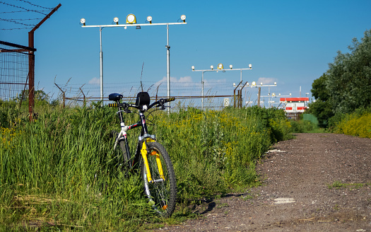 Aviation and Cycling Travel Background
