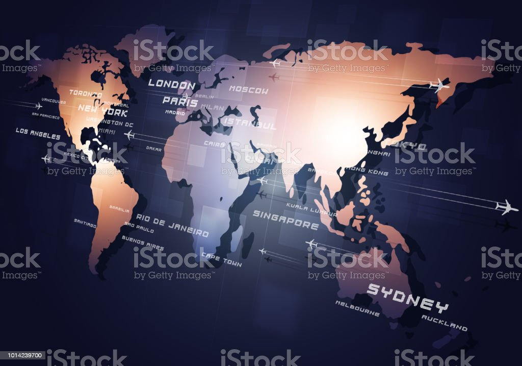 Aviation Business Background stock photo