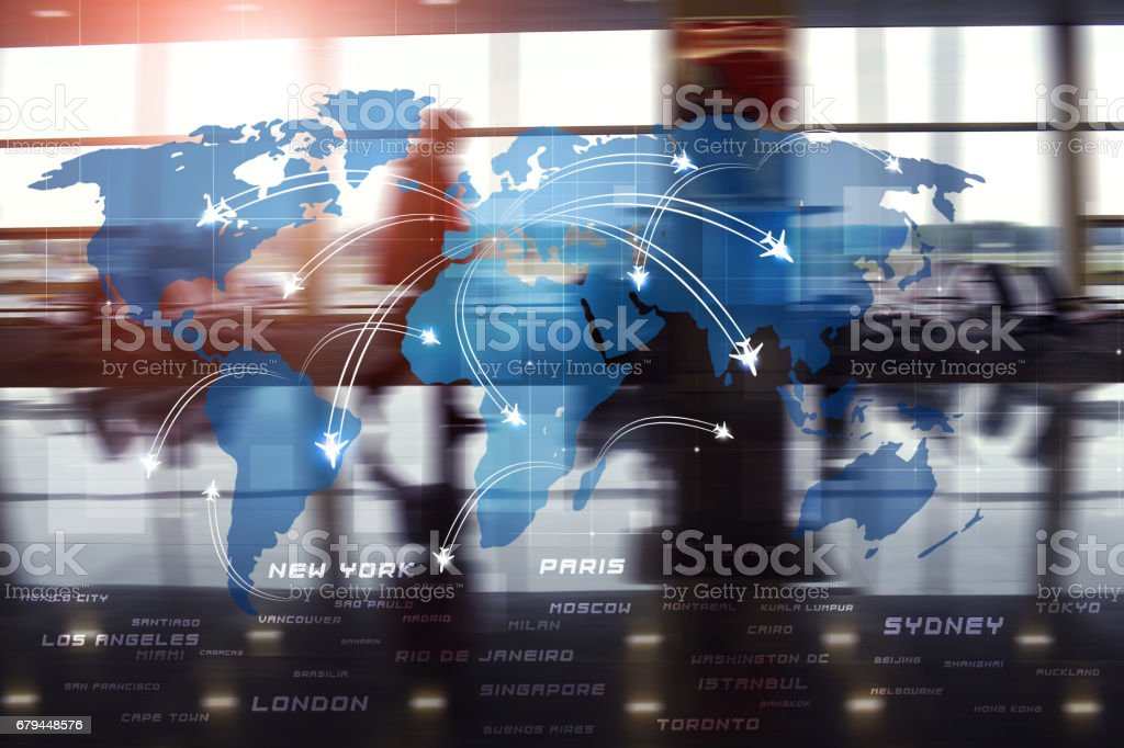 Aviation Business Background royalty-free stock photo