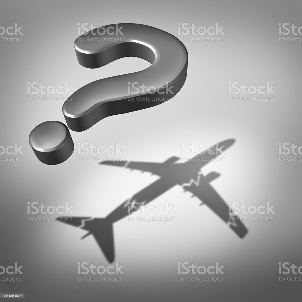 Aviation Disaster Question stock photo