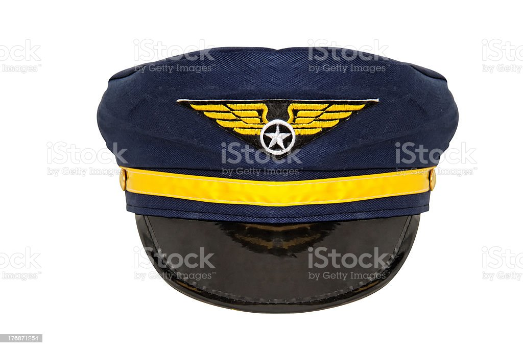 Aviation hat front view stock photo