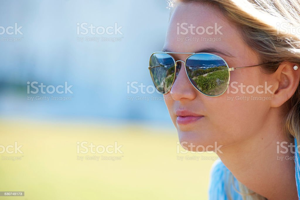 Aviator chic stock photo