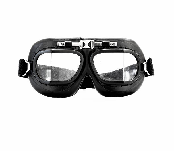 Aviator goggles stock photo