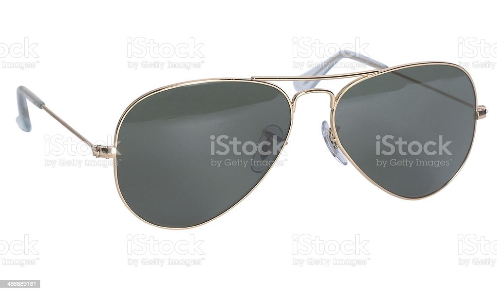 Aviator sunglasses isolated on white background stock photo