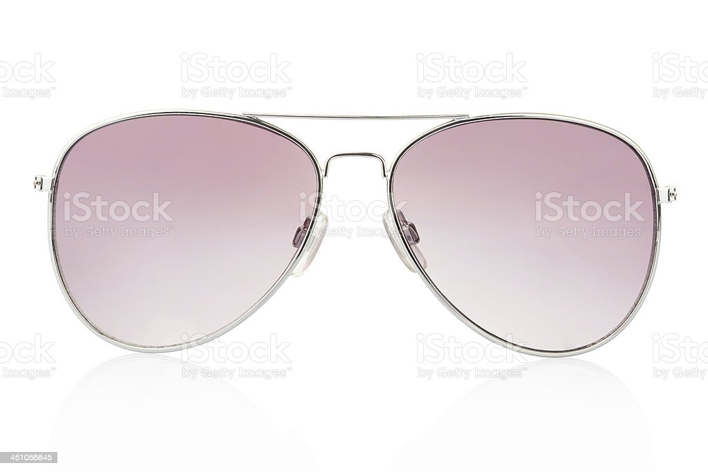 Aviator sunglasses isolated stock photo