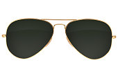 istock Aviator sunglasses isolated 905125152