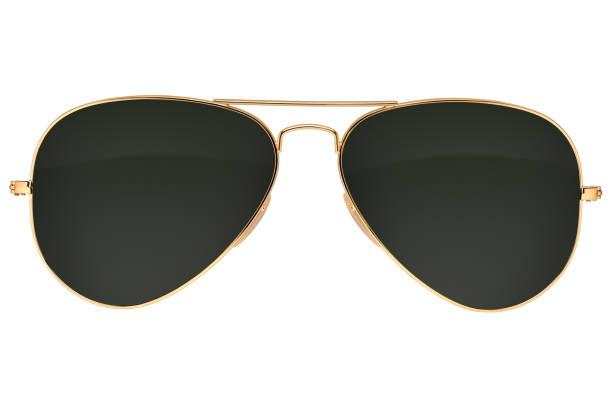 Óculos de sol de aviador isolado - foto de acervo