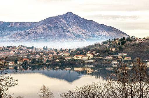 Avigliana lake turin piedmont italy val susa