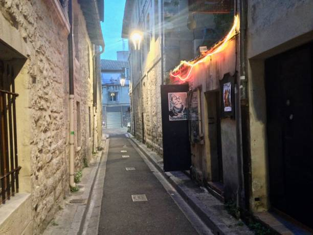 avignon at night - mcdermp stock photos and pictures